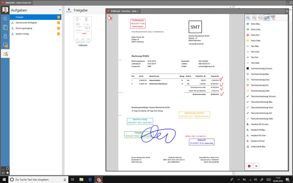 Dokumentenarchivierung-Amagno-Screenshot